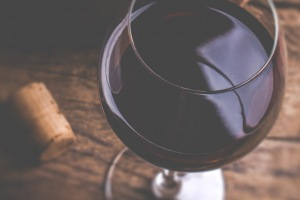 Image of a glass of red wine